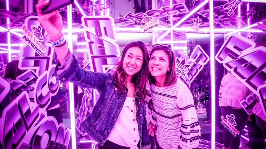 Two woman taking a selfie