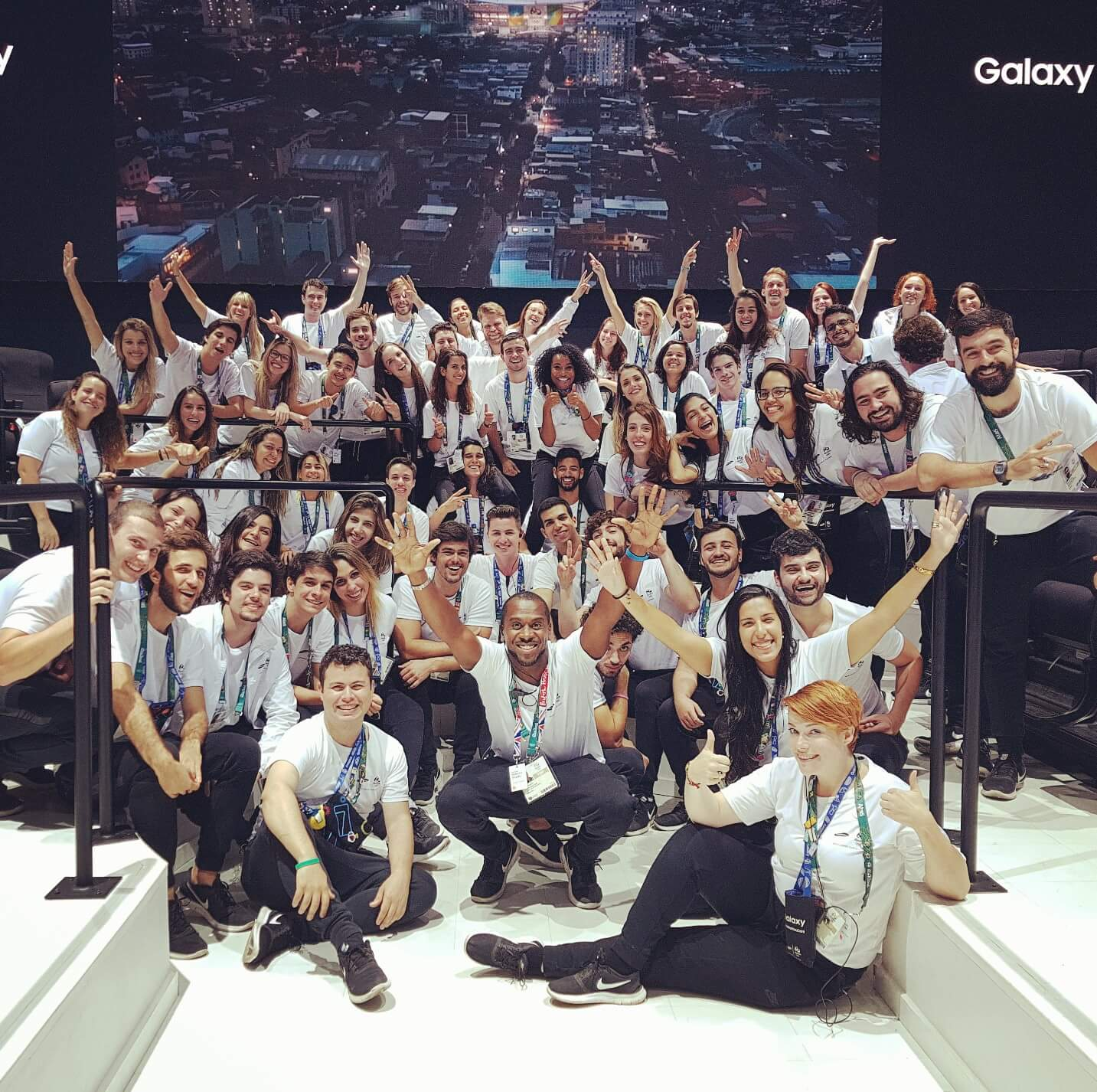 Samsung team at a brand experience event