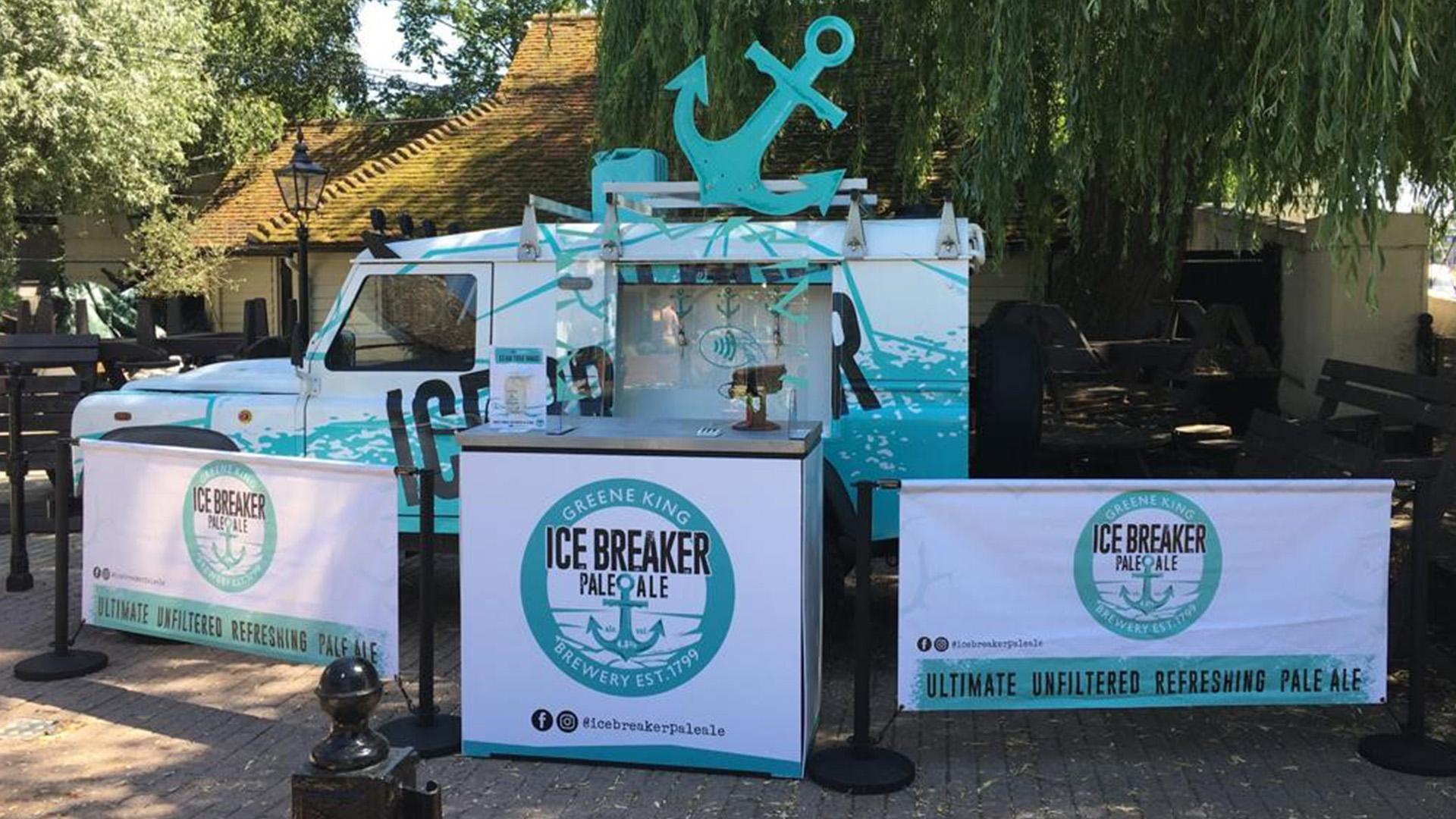 Re-establishing human connections in the Pub Garden icebreaker van
